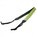 Stylish PU Leather Neck Sling Strap for DSLR Camera - Green