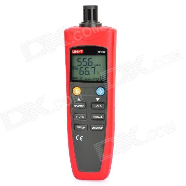 UNI-T UT332 1.8 LCD Digital Temperature / Moisture Meter Tester - Red + Black (4 x AAA) pro skit nt 312 digital 2 lcd temperature humidity tester white black 1 x aaa