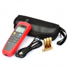 "UNI-T UT332 1.8"" LCD Digital Temperature / Moisture Meter Tester - Red + Black (4 x AAA)"
