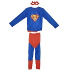 Kostüm-Partei Cosplay Superman Kinderkleidung Set + Eyeshade (Größe L)