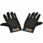 5.11 Tactical Series Anti-Slip Full Finger Gloves - Black (Pair)