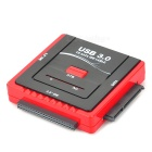 USB 3.0 / 2.0 to SATA / IDE Converter w/ US Plug & USB cable - Black + Red