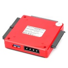 USB 3.0 / 2.0 to SATA / IDE Converter w/ US Plugs & USB cable - Black + Red