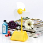 Stylish USB Button-Press & Touch Fan w/ USB Cable - Yellow