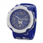 Fashion Silicone Band Colorful LED Backlit Slap-on Wrist Watch - Blue (2 x CR2016)