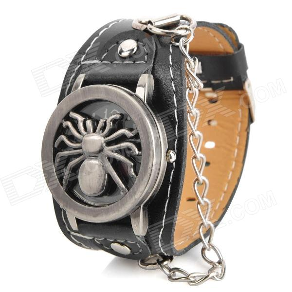 Spider Style Flip-Open PU Band Quartz Wrist Watch for Men (1 x 377)