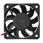 6015S DC 12V 0.15A Brushless Cooling Fan - Black (6*6cm)