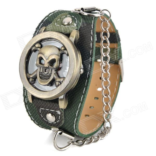 Skull Style Flip-Open Quartz Wrist Watch for Men - Camouflage (1 x 377)