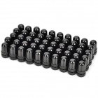 Aluminum Alloy Bike Bicycle Valve Caps for Schrader Valve - Black (50-Piece)