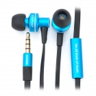 Awei In-Ear Earphone w/ Microphone for iPhone / iPad / iPod / iPod Touch - Blue (3.5mm Jack, 120cm)