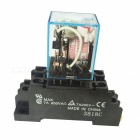 5A DPDT Electromagnetic Relay - Black + Blue (AC 220/240V)