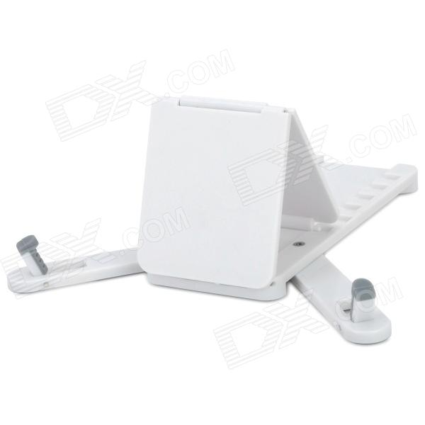 Portable Mini Folding Stand w/ 6-Level Adjustable Angles for Ipad / Iphone / Ipod - White