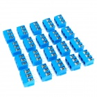 3 Pin 5.0mm Terminal Blocks Connectors - Blue (20-Piece)