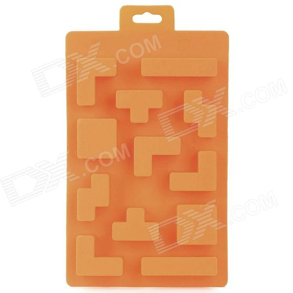 Silicone Brick Design Ice Cubes Maker DIY Mould - Orange silicone skeleton shaped ice cubes trays maker diy mould random color