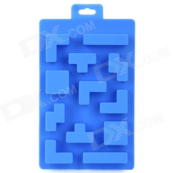Silicone Brick Design Ice Cubes Maker DIY Mould - Blue silicone skeleton shaped ice cubes trays maker diy mould random color