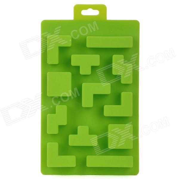 Silicone Brick Design Ice Cubes Maker DIY Mould - Green silicone skeleton shaped ice cubes trays maker diy mould random color
