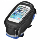 Roswheel Outdoor Fashion Top Tube Belt Bag - Black + Blue + Grey