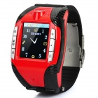 "F3 GSM Watch Phone w/ 1.4"" Resistive, Quad-Band, Bluetooth and Single-SIM - Red"