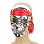 Electroplating Silver Pirate Skull Face Mask