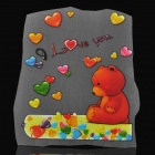 DIY T-Shirt Iron-On Transfer Sticker - Cute Love Bear