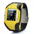 "F3 GSM Watch Phone w/ 1.4"" Resistive, Quad-Band, Bluetooth and Single-SIM - Yellow"