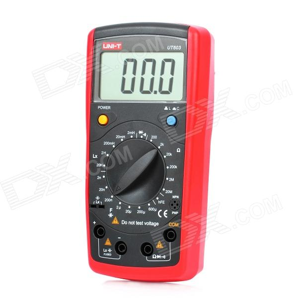UNI-T UT603 2.7 LCD Digital Inductance Capacitance Tester - Red + Grey (1 x 9V) uni t ut15c 1 1 lcd digital voltage tester black red 2 x aaa