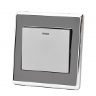 SMEONG One Gang Power Control Wall Switch - Silver + Black