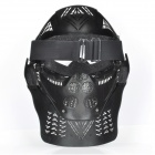 Snygg Paintball War Game Protection Face Mask Shield - Svart