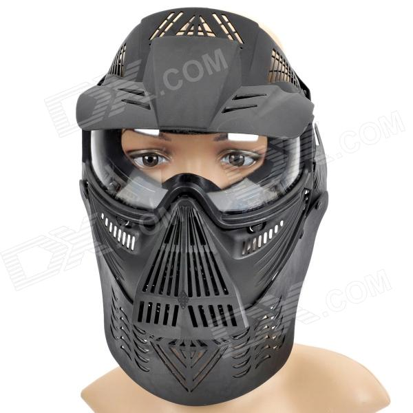 Stylish Paintball War Game Protection Face Mask Shield - Black - Free Shipping - DealExtreme
