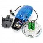 Bike Bicycle 8-Sound 7-Flashing Electric Horn - Black + Blue (2 x AA)