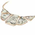 Fashion Lady's Snakeskin Print Necklace