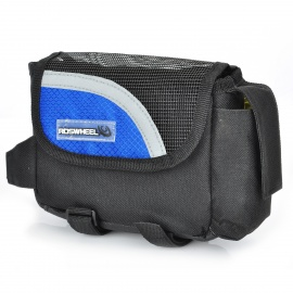 Outdoor Bike Bicycle Upper Tube Bag - Blue + Black