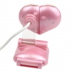 Heart Style USB 2.0 2.0MP PC Camera Webcam with Microphone / 3-LED Night Vision Light - Pink