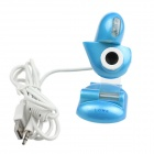 Heart Style USB 2.0 2.0MP PC Camera Webcam with Microphone / 3-LED Night Vision Light - Blue