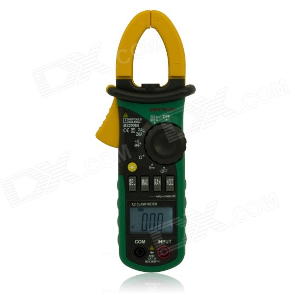 "MASTECH 1.5 ""LCD Digital Clamp multímetro - Verde (3 x 1.5V / AAA)"