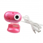 Heart Style USB 2.0 2.0MP PC Camera Webcam with Microphone / 3-LED Night Vision Light - Red