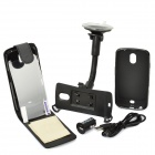 Car Mount + Leather Case + PVC Case + Screen Protector + Car Charger + USB Cable for Samsung I9250