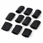 Multisport Finger Sleeves for Gym Fitness / Basketball / Volleyball - Black (10-Piece-Pack)