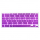 "Protective Silicone Keyboard Cover Skin Protector Guard for MacBook 13.3"" & 15.4"" Laptops - Purple"