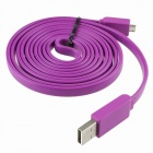 USB 2.0 Male to Micro USB 5-Pin Male Flat Cable - Purple (150cm)