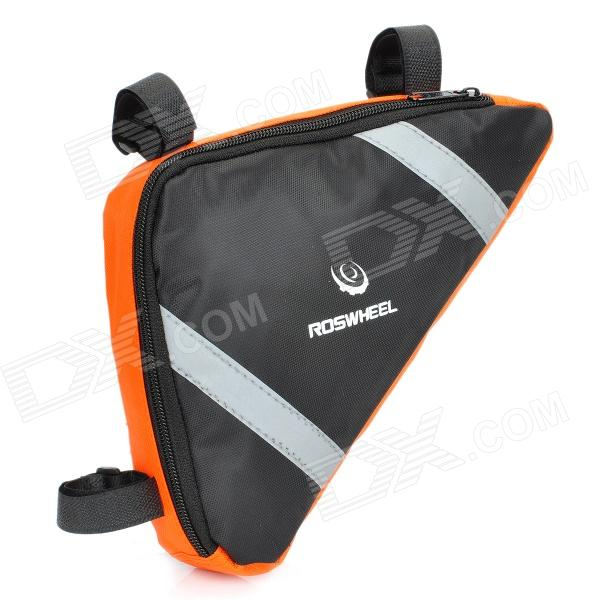 Roswheel Outdoor Fashion Top Tube Triangle Bag - Orange + Black roswheel outdoor cycling bike top tube triangle bag green