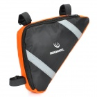 Roswheel Outdoor Fashion Top Tube Triangle Bag - Orange + Black