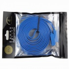 USB 2.0 High Speed ​​Masculino para Flat Cable Feminino - Azul (150cm)