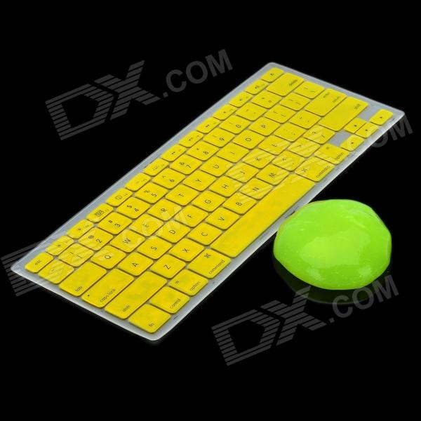"Yellow Silicone Keyboard Cover Skin + Magic Super Clean Putty for Macbook 13.3"" / 15.4"" Laptops"