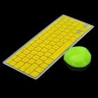 Yellow Silicone Keyboard Cover Skin + Magic Super Clean Putty for Macbook 13.3