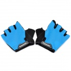 New Cycling Fingerless Glove - Blue + Black (Pair)