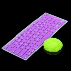 Purple Silicone Keyboard Cover Skin for Macbook 13.3'' & 15.4'' Laptops + Magic Super Clean Putty