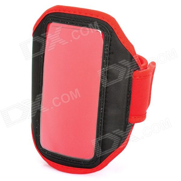 Trendy Outdoor Sports Arm Band for HTC ONE X / S720E / ONE S / Z520E - Red + Black sporty nylon armband for htc desire hd hd2 evo 4g black blue
