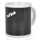 Magical Mr.Thief Color Changing Ceramic Cup - Black + White