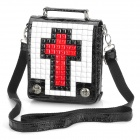 Cool Punk Cross Design Cow Leather One Shoulder Bag / Handbag w/ Rivets